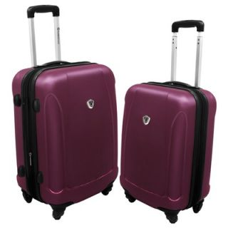 Travelers Choice 2 Piece Spinner Luggage Set