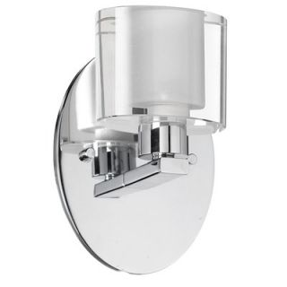 Dainolite Oval Glass One Light Wall Sconce in Polished Chrome   809