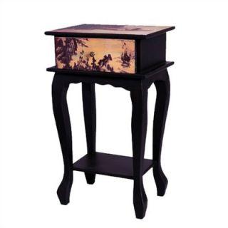 Oriental Furniture Ladies on Water Multi Tiered Telephone Table