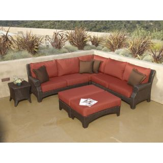 Sunset West Santa Barbara Sectional Sofa with Cushions