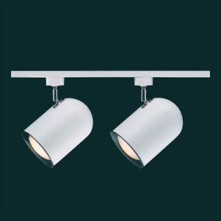 Thomas Lighting Two Small White Roundback Two Head Track Light Kit