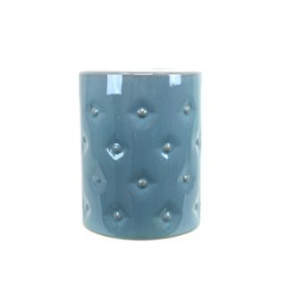 Urban Trends 17 Bottom Distress Look Ceramic Garden Stool