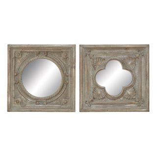 Woodland Imports Polystone Mirror Decor (Set of 2)