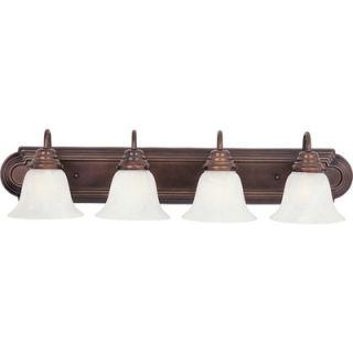 Maxim Lighting Essentials ES Four Light Bath Vanity in Oil Rubbed
