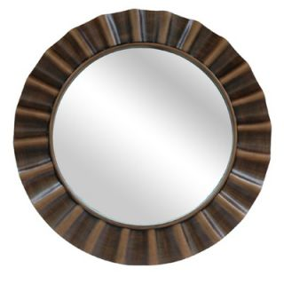 Crestview Beveled Antique Round Mirror in Gold   CVMRA240