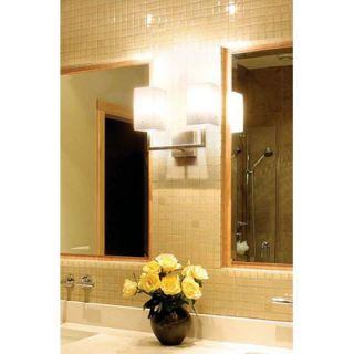 LBL Lighting Casino Two Light Bath Vanity in Satin Nickel