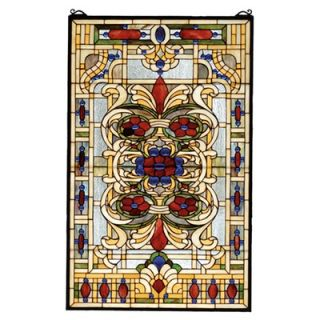 Meyda Tiffany Victorian Nouveau Estate Floral Stained Glass Window