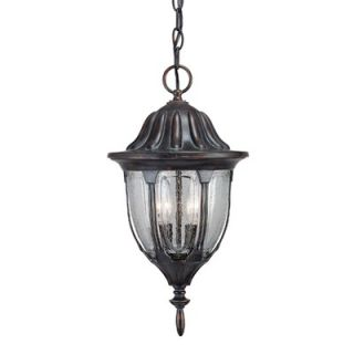 Savoy House Tudor Outdoor Hanging Lantern in Bark and Gold   5 1502