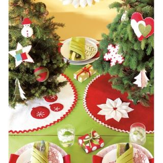 Eastern Accents North Pole Holiday Floral Mini Tree Skirt   LEY 121