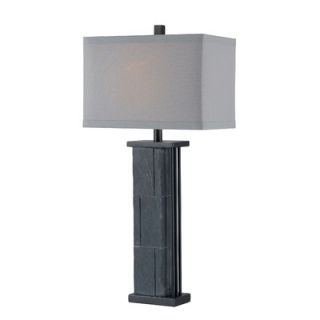 Kenroy Home Manuever One Light Table Lamp in Natural Grey Slate
