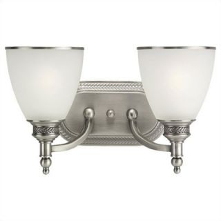Sea Gull Lighting Laurel Leaf Wall Sconce in Antique Brushed Nickel