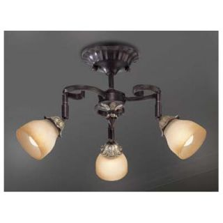 Mangolia Three Light Track Lights in Antique Gold Leaf   16296 015
