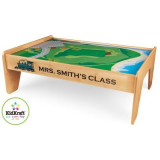 KidKraft Personalized Train Table in Natural   17851 Set