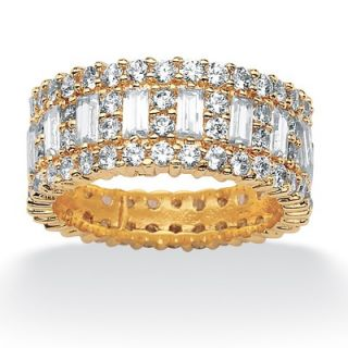 Palm Beach Jewelry Gold Plated Cubic Zirconia Eternity Band