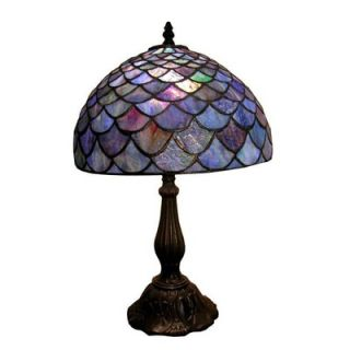 Warehouse of Tiffany Amber Shell Table Lamp   MB06+PS138