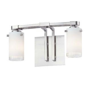 George Kovacs Street Light Two Light Bath Vanity in Brushed Nickel
