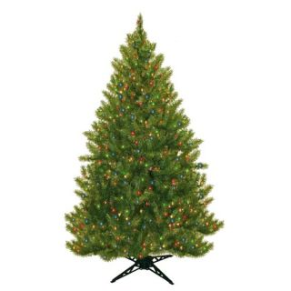 Evergreen Fir Prelit Christmas Tree with 450 Multicolored Lights