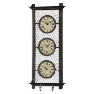 Uttermost Brunswick Clock in Rustic Bronze