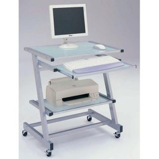 Mobile Portable Laptop Computer Rolling Cart Stand Table Storage Desk