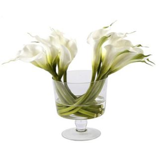 Winward International Glass Bowl with Calla Lilies   JSWP26436N.WH