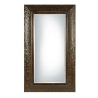 Uttermost Guenevere Rectangular Beveled Mirror in Mahogany Brown