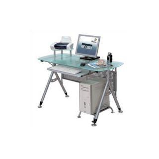 Techni Mobili Glass Surface Computer Desk   RTA 3784