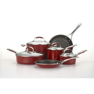 KitchenAid Gourmet Aluminum Porcelain Enamel 10 Piece Cookware Set