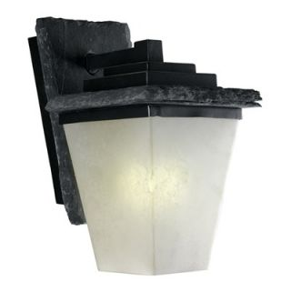 Kenroy Home Flintridge Outdoor Wall Lantern in Distressed Black Slate