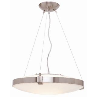 Access Lighting Luna 1 Light Drum Pendant   50102 BS/OPL