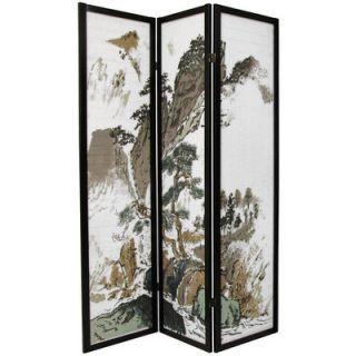 Oriental Furniture Asian Landscape Decorative Room Divider   SSCLND