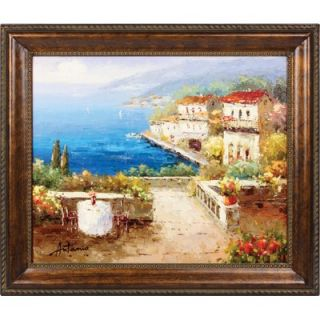 Hokku Designs Coffee or Tea Hand Painted Oil Canvas Art with Frame