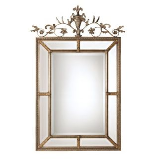Uttermost Le Vau Rectangular Beveled Mirror in Silver Leaf