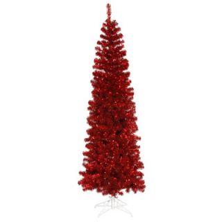 Vickerman 6.5 Artificial Pencil Christmas Tree in Red