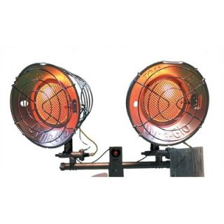 World Marketing Double Burner Tank Top Radiant Heater