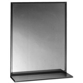 bobrick channel framed mirror with shelf b 166