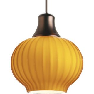 Progress Lighting Illuma Flex Low Voltage Onion Mini Pendant in Amber