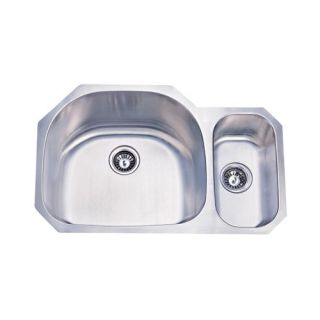 Stainless Steel Double Bowl Undermount Kitchen Sink in Brushed Nickel