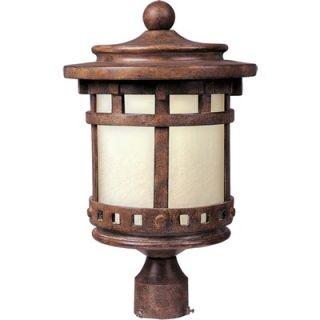 Maxim Lighting Santa Barbara ES Post Lantern in Sienna   85036MOSE