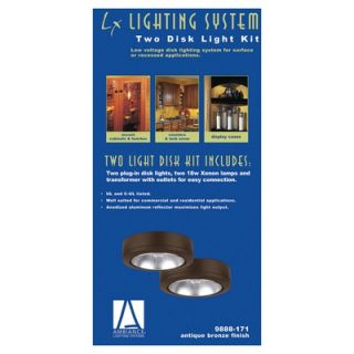 Disk Light Kit with Housing in Painted Antique Bronze   9888 171