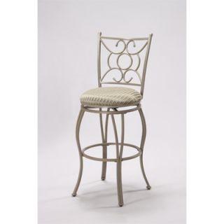 Wildon Home ® Metallic Swivel Counter Stool with Cushioned Seat (Set