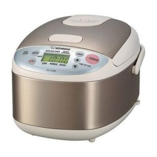 Zojirushi Micom 3 Cup Rice Cooker and Warmer in Stainless Steel   NS