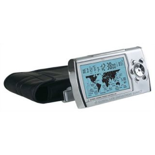 Chass World Sync Time Zone Map Atomic Clock in Silver   192