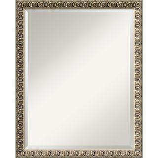 Uttermost Caissa Beveled Mirror in Distressed Antique Black