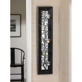 Zodax Five Light Coral Design Metal Wall Sconce with Mirror