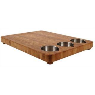 Totally Bamboo Chop Large Three Bowl Prep Cutting Board