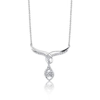 Oravo Everlasting Beauty Sterling Silver Bridal Teardrop Necklace