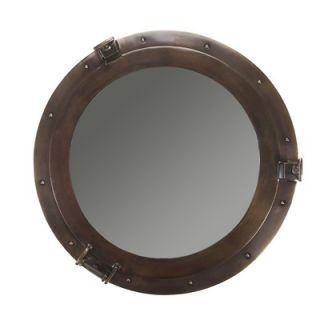 Authentic Models Lounge Porthole Large Mirror in Bronze
