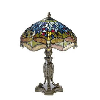 Dale Tiffany Dragonfly with Platform Base 2 Light Table Lamp   7703