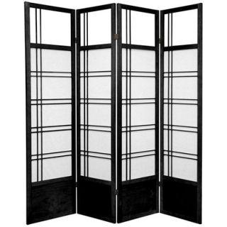 Oriental Furniture Kumo Classic Shoji Room Divider in Black   SSCKMO