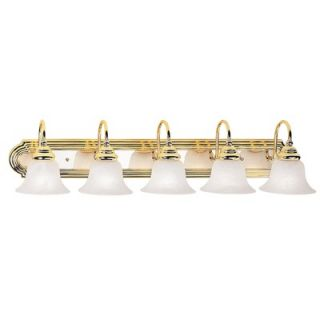 Livex Lighting Belmont Vanity Light in Polished Brass/Chrome   1005
